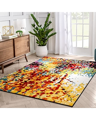 """Well Woven Viva Partridge Modern Abstract Dots Multi Bright Area Rug 5'3"""" x 7'3"""""""