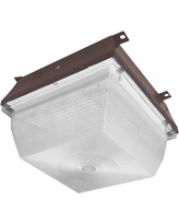 "Cyber Tech Willow 12 1/2""W Bronze LED Outdoor Ceiling Light"