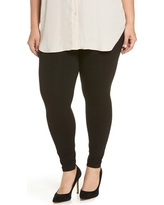 Plus Size Women's Hue Leggings, Size 1X - Black