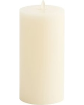 "Premium Flickering Flameless Wax Candle, 3 x 6"", Ivory"