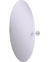 Allied Brass Sag Harbor Collection Frameless Oval Tilt Mirror with Beveled Edge in Polished Chrome