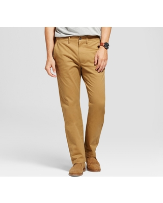 67c04fbbbad9 Men's Straight Fit Hennepin Chino Pants - Goodfellow & Co Light Brown 32X30
