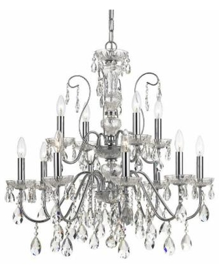 Crystorama Butler 29 Inch 12 Light Chandelier - 3029-CH-CL-MWP