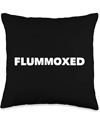 Mom Cuss Words Clothing Flummoxed Saying Word Confused Statement Funny Novelty Throw Pillow, 16x16, Multicolor