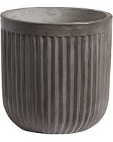 Concrete Fluted Planter, Medium