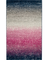 Fuchsia/Navy Abstract Loomed Accent Rug - (3'X5') - Safavieh, Pink