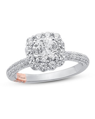 Jared The Galleria Of Jewelry Pnina Tornai Dimensional Love Diamond Engagement Ring 1 7/8 ct tw Round 14K Two-Tone Gold