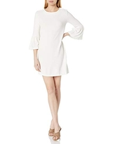French Connection Women's Sudan Solid Ribbed Mini Dress, Summer White, 2