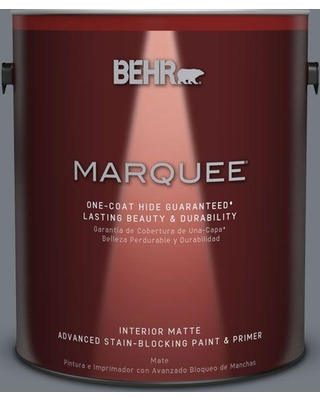 BEHR MARQUEE 1 gal. #N510-5 Liquid Mercury color One-Coat Hide Matte Interior Paint and Primer in One