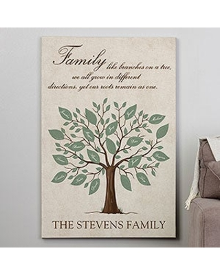 Personalized 28x42 Family Tree Canvas Print