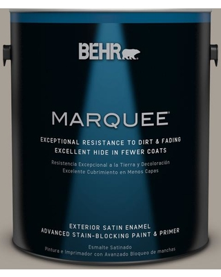 BEHR MARQUEE 1 gal. #PPU24-09 True Taupewood Satin Enamel Exterior Paint and Primer in One