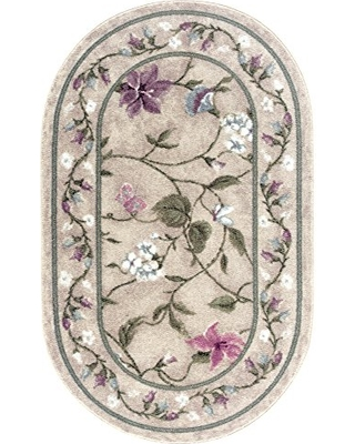 Brumlow Mills Butterfly Rug, 30-Inch by 46-Inch, Opal