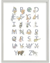 The Animalphabet Wall Art by Minted(R) 30x40, Gray