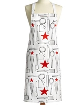 Macy's Cotton Printed Apron, Created for Macy's - White