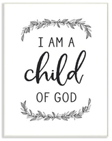 The Stupell Home Decor Collection Child Of God Black and White Leaves Typography Oversized Wall Plaque Art, 12.5 x 0.5 x 18.5
