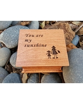 Mother's day gift, Personalized wooden music box with You are my sunshine engraved on the top along with a mother-daughter image, great gift for your daughter, handmade by simplycoolgifts