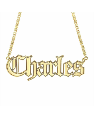 Personalized Name Necklace, One Size , Yellow