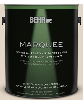 BEHR MARQUEE 1 gal. #N270-1 High Style Beige Semi-Gloss Enamel Exterior Paint and Primer in One