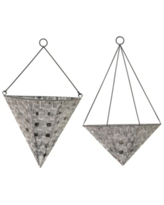 Stratton Home Decor Woven Metal Wall Planters, Set of 2