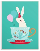 The Kids Room by Stupell Bunny In Teacup Oversized Wall Plaque Art, 13 x 0.5 x 19