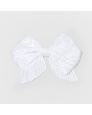 Girls' Solid Bow Hair Clip - Cat & Jack White