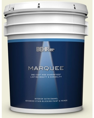 BEHR MARQUEE 5 gal. #S340-1 Lychee Satin Enamel Interior Paint and Primer in One