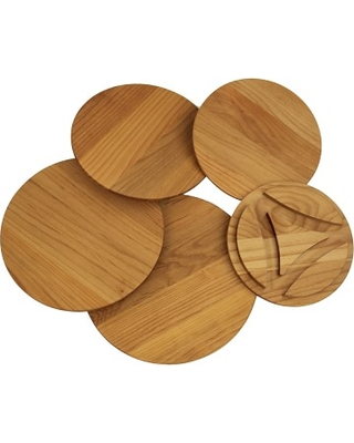 Enclume Cookware Stand Wood Trivets Set, 5-Tier