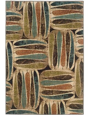 E2031A200290ST Emerson Power Loomed Polypropylene Casual/Casual Rug 6.7 x 9.6 feet in Ivory/Brown