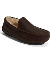 Men's Ugg Ascot Leather Slipper, Size 8 M - Brown