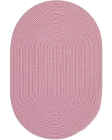 Joy Braids Solid Pink 4 ft. x 6 ft. Oval Indoor/Outdoor Braided Area Rug