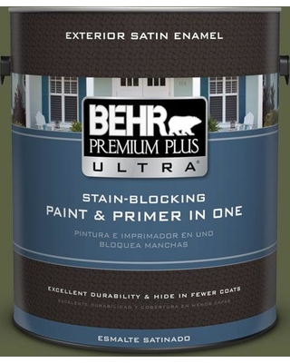 BEHR ULTRA 1 gal. #S360-7 Down to Earth Satin Enamel Exterior Paint and Primer in One