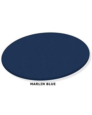 Blue Marlin Lazy Susan Turntable - Custom Size - Covered in a Blue Vinyl Upholstery
