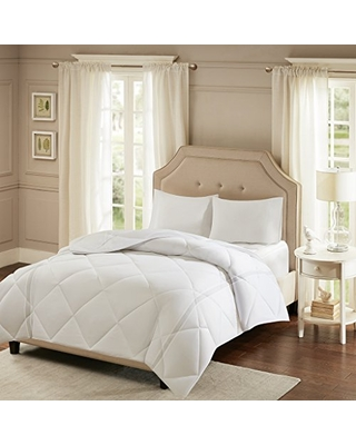 Smart Cool by Sleep Philosophy Season Down Alternative Smart Cool Feature Comforters for Hot Sleepers, Full/Queen, White