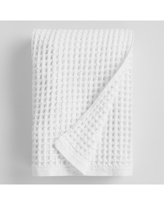 White Waffle Weave Cotton Bath Towel by World Market