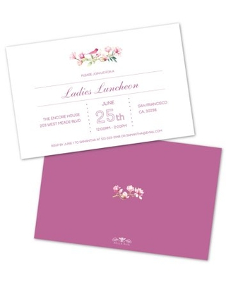 Personalized Pink Floral Party Invitations