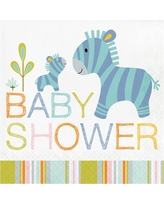 16ct Happy Jungle Baby Shower Napkins