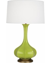 Robert Abbey Pike Apple Ceramic and Brass Table Lamp
