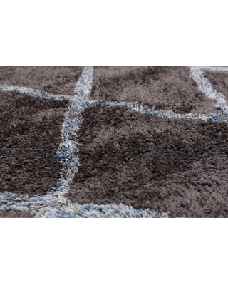 """5'4x7'6 Hand Tufted Polypropylene Supersoft Oriental Area Rug Grey, Ivory Color - 5'4"""" x 7'6"""""""