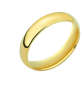 Golden Moon Women's Rings Gold - 14k Gold-Plated 4-mm Band