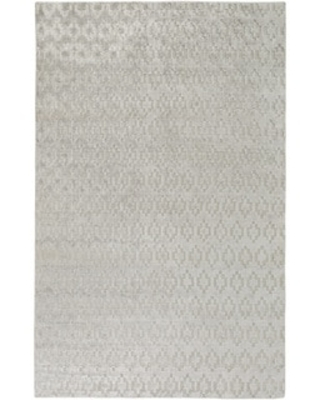"""Hand-Knotted Esteban Solid Viscose Area Rug (3'3"""" x 5'3"""" - Ivory)"""