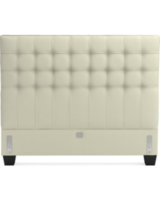 Fairfax Headboard Only, Queen, Faux Suede, Stone