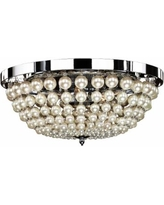 """Moscato 16 1/2"""" Wide Chrome 5-Light Faux Pearl Ceiling Light"""