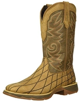 Durango Women's Lady Rebel Patchwork Western Boot Mid Calf, Marbled Tan and Chocolate, 6 M US