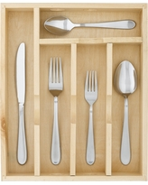 Almiqua Flatware Set 45-pc. With Caddy Stainless Steel - Threshold, Silver