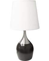 Touch-On Table Lamp - Brown/White - Ore International, Brown/Silver