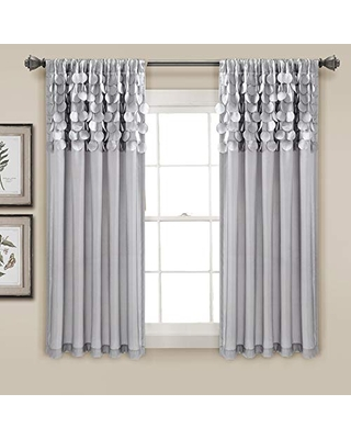 Lush Decor Circle Dream Window Curtains Panel Set For Living Dining Room Bedroom Pair 63 X 54 Light Gray From Martha
