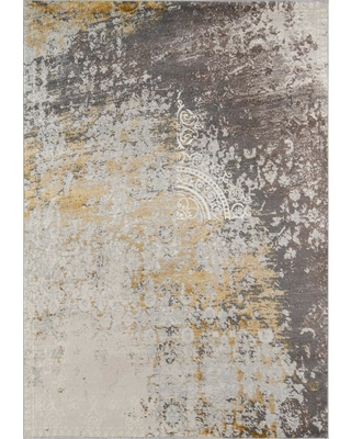 Momeni Luxe Gold 4 ft. x 6 ft. Indoor Area Rug