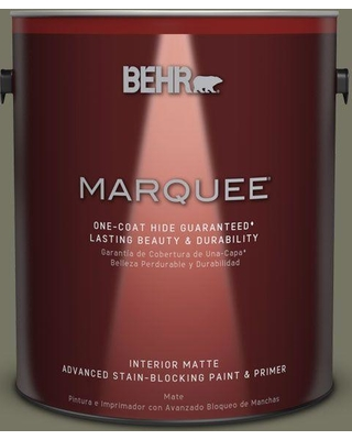 BEHR MARQUEE 1 gal. #N350-6 Peppergrass One-Coat Hide Matte Interior Paint and Primer in One