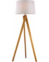 Dimond Natural Wood Tripod Floor Lamp