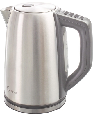 Capresso H2O Steel Plus Electric Water Kettle Stainless Steel 278.05, Silver